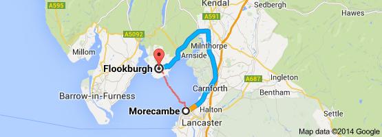 morecambe to flookburgh
