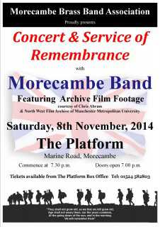 InnerTuba Morecambe Band Service of Rememberance Concert Morecambe Platform