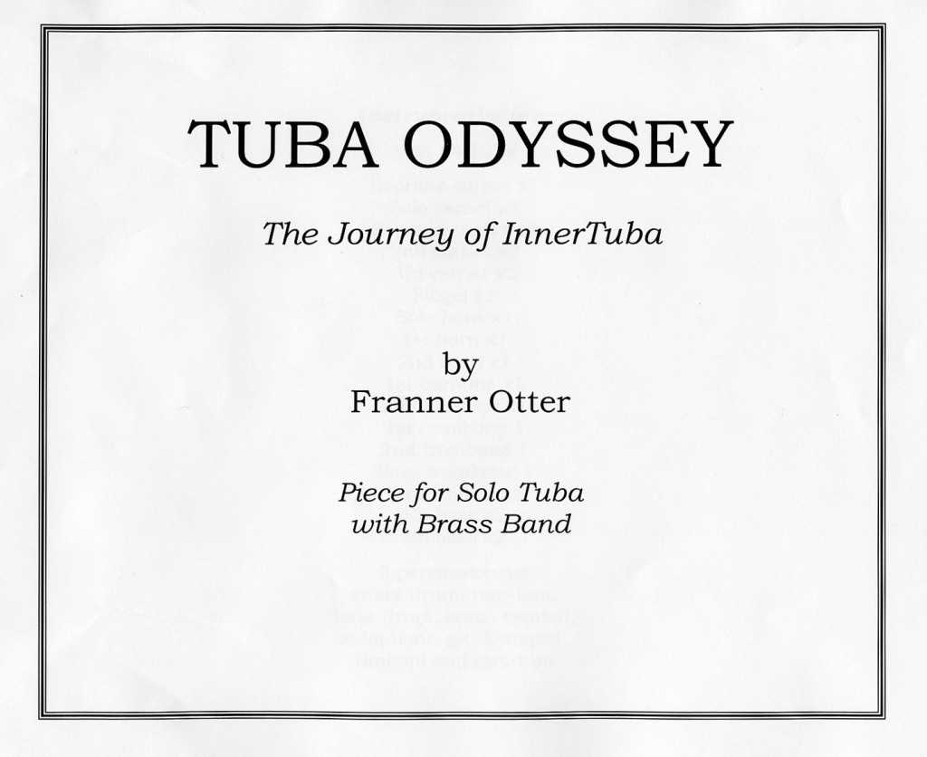 Franner Otter 'Tuba Odyssey' frontispiece