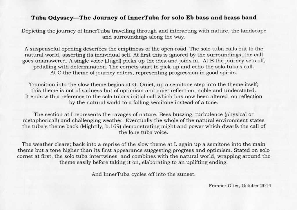 Franner Otter 'Tuba Odyssey' outline
